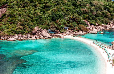 Beautiful scenery of Koh Tao the view from the top. Paradise on the island.