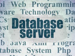 Software concept: Database Server on Digital Paper background