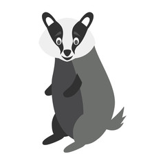 Cute cartoon badger vector illustration