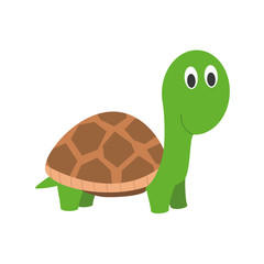 Cute cartoon turtle vector illustration