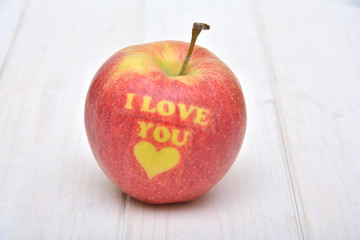 Apple for Valentine's Day