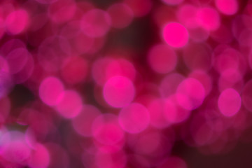 Abstract pink glowing circles for valentine day