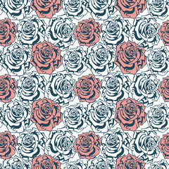 abstract seamless texture with roses