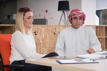 muslim businessman and assistant