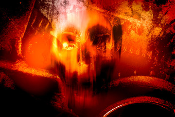 Horror Background For Halloween Concept And Movie Poster Project Wall mural