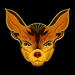 Vector image of a Chihuahua