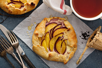 Yogurt and nectarine galette