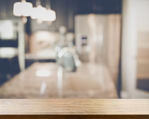 Blurred Kitchen with Retro Instagram Style Filter