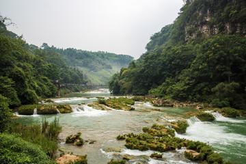 Foto op Aluminium Rivier baining river scenery of Huangguoshu waterfalls -Anshun, China
