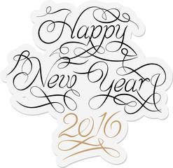 2016 New Year Calligraphy Design