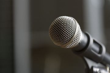 Microphone on selected focus.