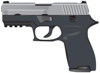Model of tactical pistol