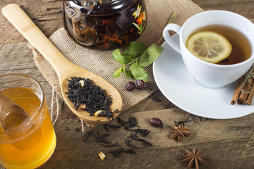tea honey and lemon