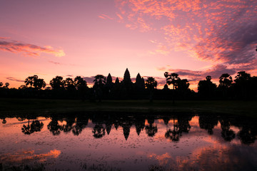 Mystical Sunrise at Angkor Wat Temple, Cambodia
