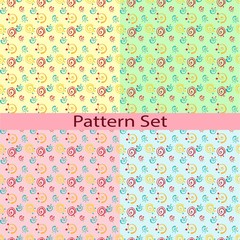 Set of patterns with the roulettes and dots