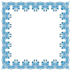 illustration of a square frame from abstract element on white ba