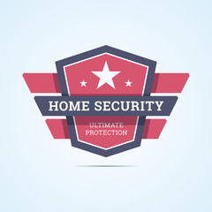 Home security badge.