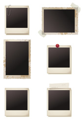 Collection of Blank Photo Frames