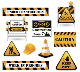 Under Construction Sign Collection