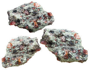 Eclogite rocks from garnet and omphacite