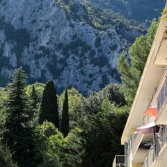 Hotel on beautiful mountain scene