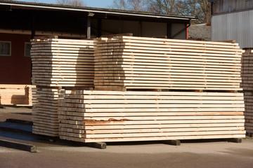 At the lumber yard