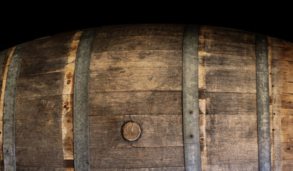 Wine wood barrel