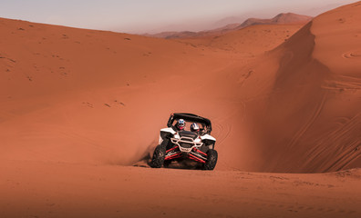 Buggy racing in the desert