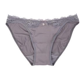 Stylish gray pantie isolated on white