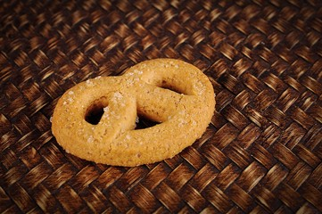 cookies on wood background
