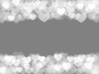 scattered blurred hearts for background