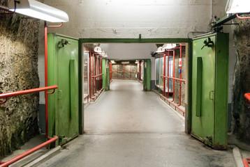 WWII era blast door in a former Salzburg bomb shelter