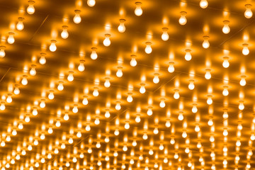 Rows of Theatre Marquee Lightbulbs Picture