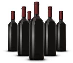 Bouteille de vin rouge 08