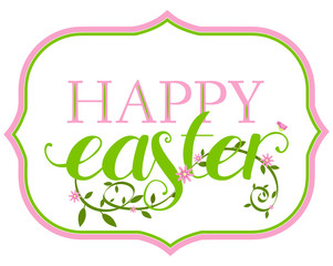 Easter congratulation typographic banner