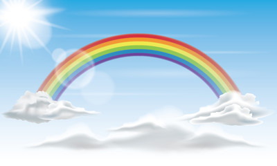Rainbow in the Sky Background