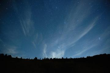 Printed kitchen splashbacks Night Blue dark night sky with stars.