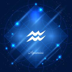 Aquarius sign of the zodiac
