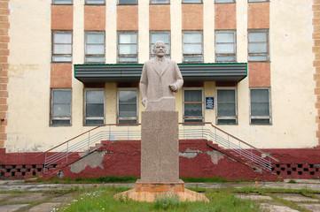 Lenin statue at Pevek town Chukotka