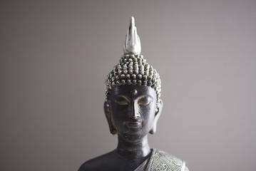 Buddha figure colro gray and black