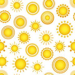 Sun seamless vector pattern
