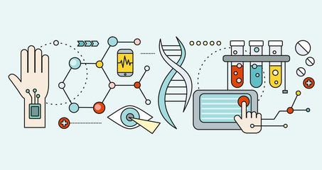 Laboratory with Human DNA. Concept Scientific