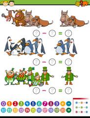 math task for preschool children