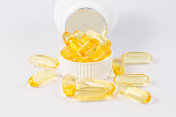 Evening primrose oil capsule,supplementa ry food.