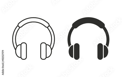 headphone vector icon stock image and royalty free vector files rh fotolia com