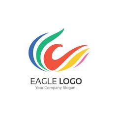 Eagle Logo,Bird logo,Animal logo,Vector logo template