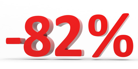 Discount 82 percent off sale.