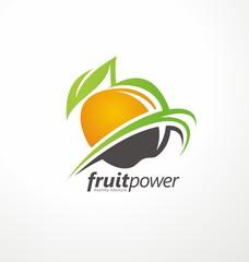 Organic Health Food vector symbol concept