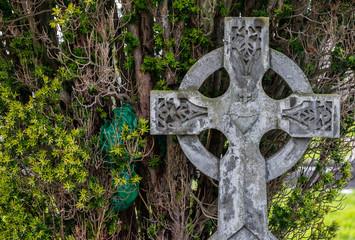 old celtic cross gravestone background