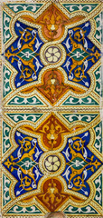 Moroccan mosaic tile, ceramic decoration, Tanger, Morocco